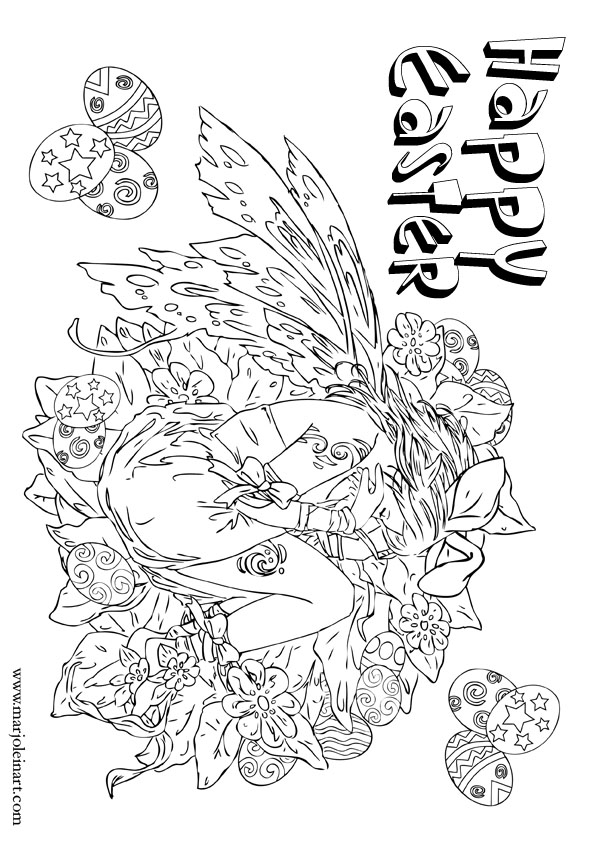 happy easter coloring sheets. Free Happy Easter Coloring
