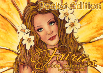 MarjoleinART Fairies 2009 Pocket Calendar